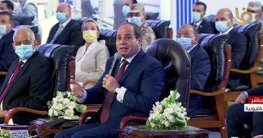 السيسى: خطة جديدة لأراضى الدولة لتنفيذ النمو الرأسى وتوفير شقق للمصريين