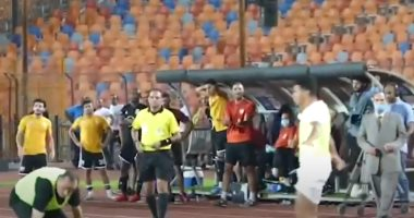 فرحة هيستيرية للاعبى وجمهور الزمالك بعد إحراز هدف الفوز على الجونة.. فيديو