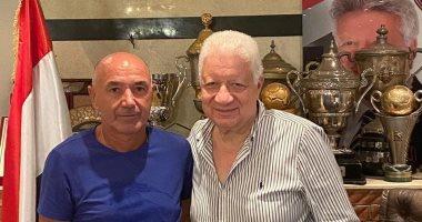 """رئيس الزمالك يستقبل """"باتشيكو"""" بعد توقيع عقود قيادة الفريق"""
