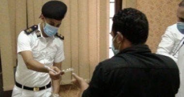 صور..حقوق إنسان الداخلية تزور أقسام الشرطة بالمنوفية