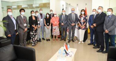 وزيرة الهجرة تتفقد المركز المصرى الألمانى للوظائف تمهيدا لافتتاحه رسميا