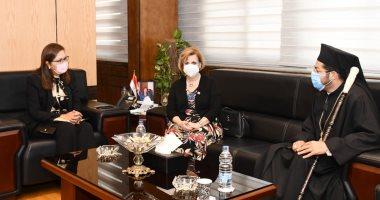 وزيرة التخطيط تستقبل الأنبا باخوم لبحث التعاون بين الوزارة والكنيسة الكاثوليكية