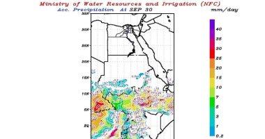 خرائط حالة الطقس على منابع نهر النيل حتى الجمعة وتوقعات بسقوط أمطار