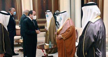 السيسي يعود إلى أرض الوطن بعد تقديم واجب العزاء في أمير الكويت صباح الأحمد
