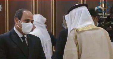 تليفزيون الكويت يبرز زيارة السيسى وتقديم العزاء فى أمير البلاد الراحل.. فيديو
