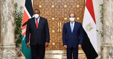 الرئيس السيسى يؤكد تقديرة للعلاقات الوثيقة بين مصر وكينيا