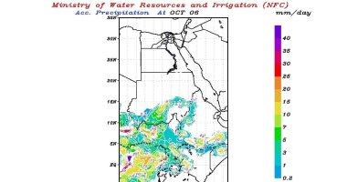 تنبؤ الرى تتوقع سقوط أمطار متوسطة اليوم على منابع النيل