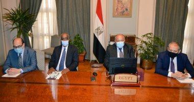 سامح شكرى يُشارك فى الاجتماع الوزارى حول ليبيا.. صور