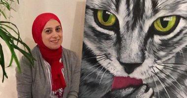 مى رسامة للحيوانات من 5 سنوات والقطط أهم أبطال لوحاتها