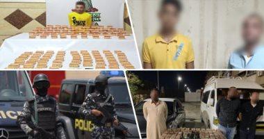 سقوط 6 عاطلين بحوزتهم أسلحة نارية وبانجو فى حملة أمنية بأسوان