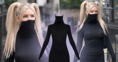شركة تصمم فستان مدمج بقناع وجه عشان اللى بتنسى الكمامة سعره فى المتناول