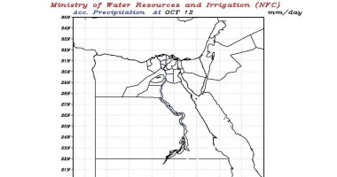 الرى تتوقع سقوط أمطار غزيرة على منابع نهر النيل حتى الثلاثاء.. خرائط