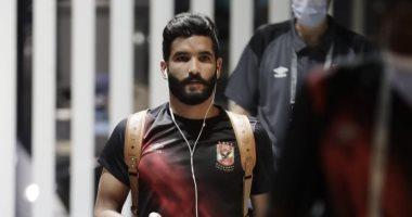 صالح جمعة يتصدر لاعبى الأهلى لحظة وصولهم لاستاد القاهرة قبل لقاء بيراميدز