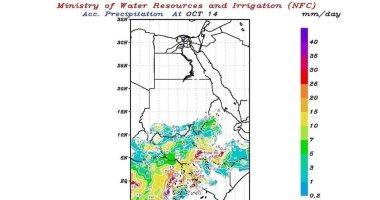 الرى تتنبأ بسقوط أمطار غزيرة على منابع نهر النيل حتى الأربعاء