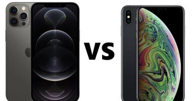 إيه الفرق .. مقارنة بين هاتفى iPhone XS Max و iPhone 12 Pro Max