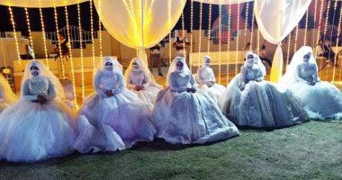 حفل زفاف جماعى بالعريش لـ 100 عروس .. فيديو وصور