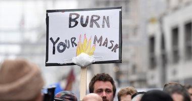 احتجاجات فى لندن ضد إعادة إغلاق البلاد بسبب كورونا