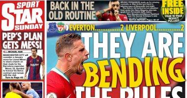 ليفربول يهاجم الفار ونهاية موسم فان دايك ضد إيفرتون الأبرز فى صحف إنجلترا