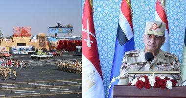 وزير الدفاع يشهد الاحتفال بتخريج دفعات جديدة من المعاهد الصحية.. فيديو وصور