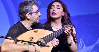 الثنائى دينا وغسان لأول مرة على العود الكهربائى في حفل بالأوبرا