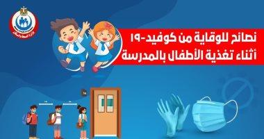 الصحة توجه 6 نصائح للوقاية من كورونا أثناء توزيع تغذية الأطفال بالمدارس