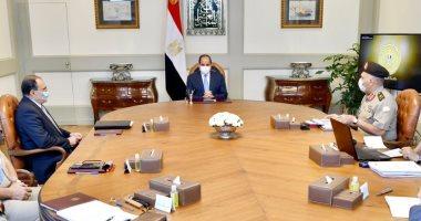 الرئيس يتابع الموقف التنفيذي للأعمال الإنشائية والهندسية في العاصمة الإدارية.. فيديو