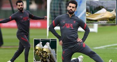 محمد صلاح يواجه أياكس بحذاء ذهبي جديد في دوري الأبطال