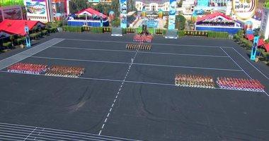 الموسيقات العسكرية تعزف أجمل المقطوعات الوطنية والعالمية أمام الرئيس السيسى