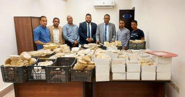إعدام 328 كيلو حلوى المولد مجهولة المصدر فى أسوان.. صور