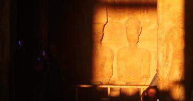 """تعرف على موعد """"تعامد الشمس"""" غدا على قدس الأقداس بمعبد الملك رمسيس"""