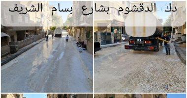 محافظة الجيزة ترفع 752 طن مخلفات قمامة من أبو النمرس والواحات