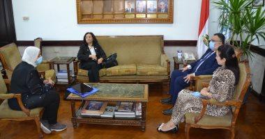 """وفد من """"أوشن الأمريكية"""" يزور جامعة الإسكندرية لبدء تنفيذ برنامج الكليات المجتمعية"""