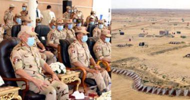 """رئيس أركان حرب القوات المسلحة يشهد المرحلة الختامية للمناورة """"ردع - 2020"""""""