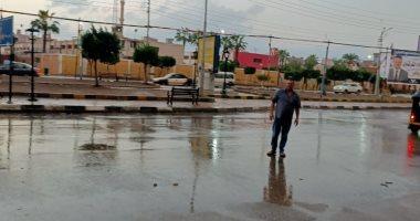 هطول أمطار غزيرة على محافظة الدقهلية .. صور