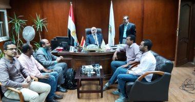 رئيس جامعة الأقصر يستقبل وفد وزارة التخطيط والتنمية الاقتصادية.. صور