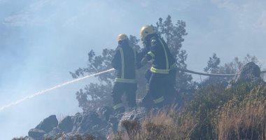 حريق تنومة.. أرامكو تدفع بطائرات للسيطرة على الحرائق فى عسير