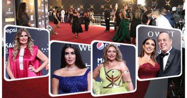 نجوم الفن يتألقون فى افتتاح مهرجان الجونة السينمائى.. ألبوم صور