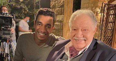"""أول صورة لـ يحيى الفخرانى من كواليس تصوير مسلسله الجديد """"نجيب زاهى ذركش"""""""
