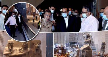 الدكتور مصطفى مدبولي رئيس الوزراء يتفقد المتحف الكبير