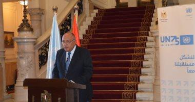 وزير الخارجية سامح شكرى يشارك فى الاجتماع الوزاري حول سد النهضة