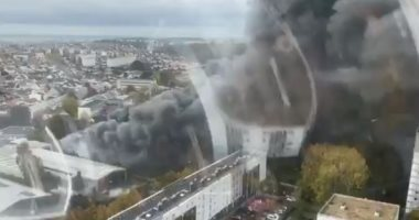 فيديو جديد لحريق هائل فى مستودع مهجور بفرنسا
