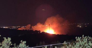 حرائق لبنان تتكرر فى منطقة قضاء جبيل والأهالى يطالبون بتحقيق