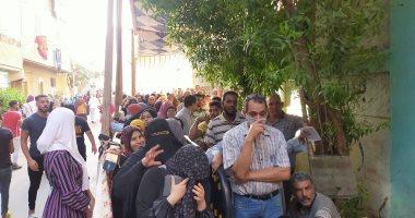 طوابير الناخبين أمام لجان الانتخابات بالجيزة
