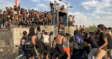 إصابة 70 محتجا وعنصر أمن خلال الاحتجاجات في العراق