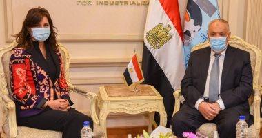 """رئيس العربية للتصنيع ووزيرة الهجرة يبحثان الإعداد لمؤتمر """"مصر تستطيع"""""""