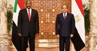 السيسي يستقبل عبد الفتاح البرهان رئيس مجلس السيادة السوداني
