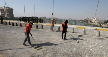 صور.. تنظيف المنطقة الخضراء في بغداد استعدادا لفتحها