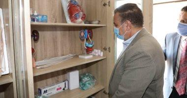 محافظ المنوفية يتفقد وحدة طب الأسرة بالحامول ومدرسة التمريض