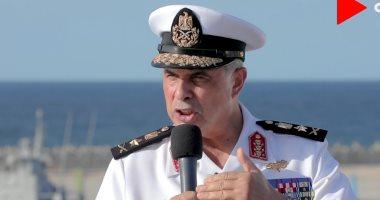 قائد القوات البحرية: نؤمن قناة السويس والميسترال سفينة قتالية من الطراز الأول
