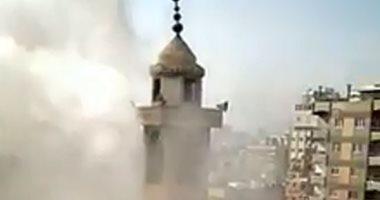 هروب تلاميذ معهد أزهرى فى صقر قريش بعد اندلاع حريق بمسجد.. فيديو